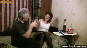 Grey haired daddy drinks with his stepdaughter then they get naked and this young slut is willing to suck - XXXonXXX - Pic 9