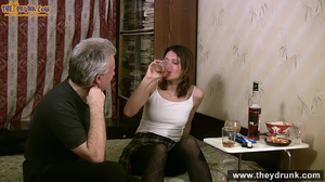 Grey haired daddy drinks with his stepdaughter then they get naked and this young slut is willing to suck - XXXonXXX - Pic 10