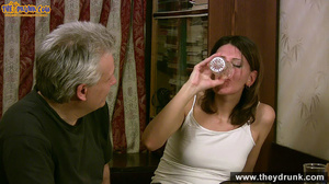 Grey haired daddy drinks with his stepdaughter then they get naked and this young slut is willing to suck - XXXonXXX - Pic 12