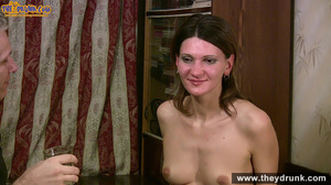 Grey haired daddy drinks with his stepdaughter then they get naked and this young slut is willing to suck - XXXonXXX - Pic 14