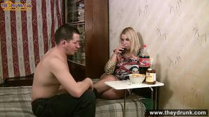 Drunken blondie with big boobs and round ass doing deepthroat - XXXonXXX - Pic 4