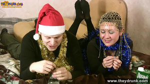 Christmas party ends in petting and cunnilingus - XXXonXXX - Pic 1