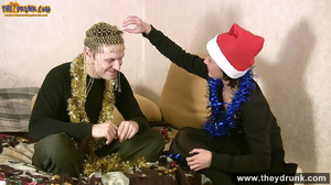 Christmas party ends in petting and cunnilingus - XXXonXXX - Pic 8
