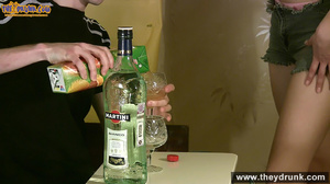 Teen couple has some drinks then they end up in petting - XXXonXXX - Pic 1