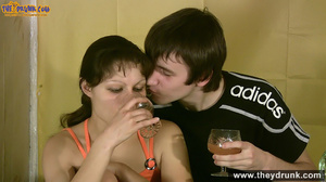 Teen couple has some drinks then they end up in petting - XXXonXXX - Pic 6