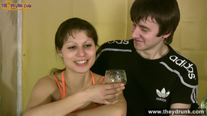 Teen couple has some drinks then they end up in petting - XXXonXXX - Pic 7