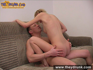 This young blond sucks cock and rides on it like a slut - XXXonXXX - Pic 16