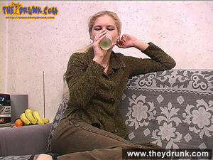 When drink is enough this sexy blond teen strips down for masturbation - XXXonXXX - Pic 7