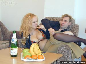 Hot big breasted secretary in stocking sucks and fucks her boss - XXXonXXX - Pic 6
