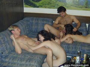 Hot swinger foursome, fucking, cock-riding, doggystyle - XXXonXXX - Pic 12