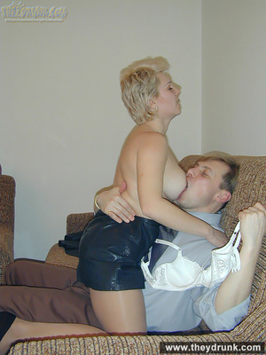 Big breasted chubby blond milf gets cock and dildo at the same time - XXXonXXX - Pic 8