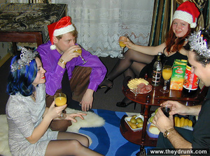 Guy plays with two horny girls at christmas - XXXonXXX - Pic 3