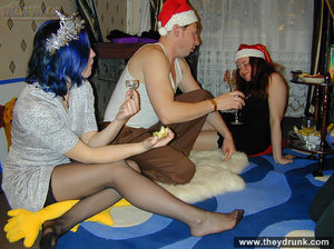 Guy plays with two horny girls at christmas - XXXonXXX - Pic 7