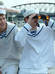 Three young gay boys in sailors - Sexy Women in Lingerie - Picture 2