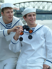 Three young gay boys in sailors - Sexy Women in Lingerie - Picture 3
