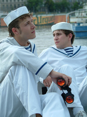 Three young gay boys in sailors - Sexy Women in Lingerie - Picture 5