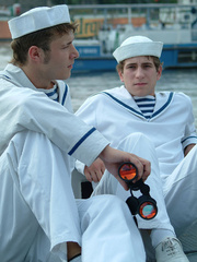 Three young gay boys in sailors - Sexy Women in Lingerie - Picture 6