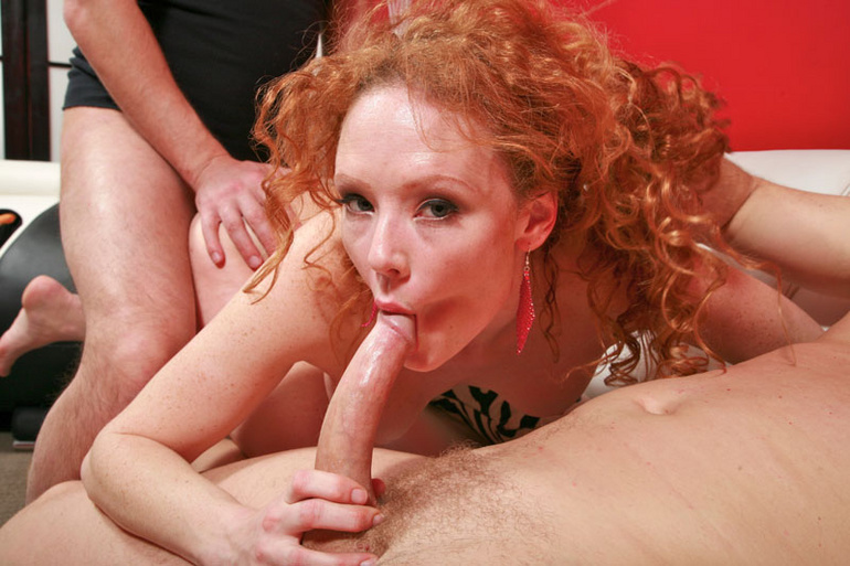 Redhead porn between sexy carrot and two - XXX Dessert - Picture 9