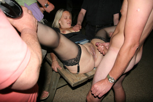 Getting their family jewels pounded by the whole orgy party… - XXXonXXX - Pic 11