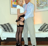The next black stockings blonde fell victim of her&hellip;