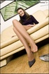 Bonnie, easy-going and chatting blonde comes to be #1 Pantyhose Sex starlet