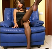 Took her sexiest stockings and revealed all…