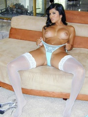 In pastel blue underwear with white - Sexy Women in Lingerie - Picture 8