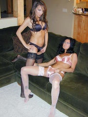 Two sweet young things play with - Sexy Women in Lingerie - Picture 2
