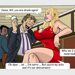 Cock hugry blonde toon milf gonna please two black - Picture 1