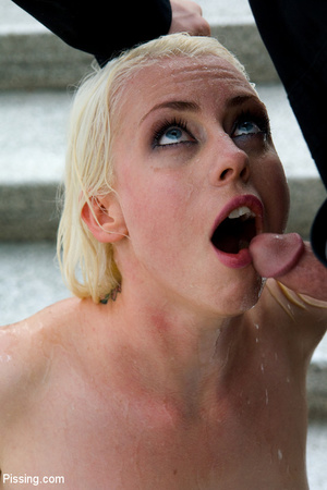 Had a goldenshower from her peeing Casanova into mouth and between boobs - XXXonXXX - Pic 5