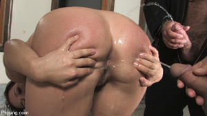 Had her fatso body peed by two amateurs of pee for several seconds - XXXonXXX - Pic 7