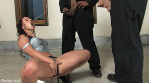 Had her fatso body peed by two amateurs of pee for several seconds - XXXonXXX - Pic 11