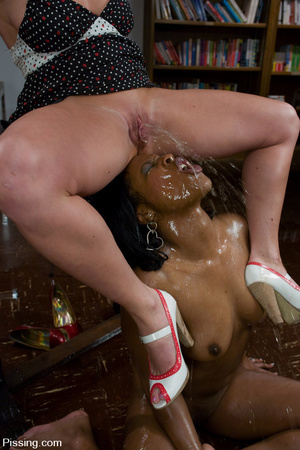 Black beauty is forbidden to do girls pissing, but allowed to groove on men pissing - XXXonXXX - Pic 10