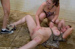 Torturing fat redhead and doing pissing on her! - XXXonXXX - Pic 8