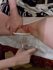 Chestnut curly hairy nasty drinking peeing and - XXXonXXX - Pic 4