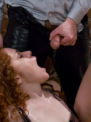 Chestnut curly hairy nasty drinking peeing and - XXXonXXX - Pic 9