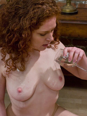 Chestnut curly hairy nasty drinking peeing and - XXXonXXX - Pic 13