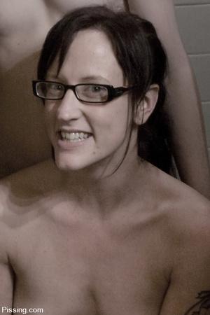 I wonder how four go  ldenshower-minded lezzos can do in the bathroom - XXXonXXX - Pic 2