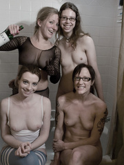 I wonder how four go  ldenshower-minded lezzos can - XXXonXXX - Pic 15