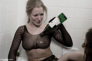 Cock sucking and fucking on bottle are just a prelude to girls pissing - XXXonXXX - Pic 13
