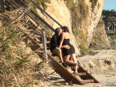 Public sex of bitch and musclehead on the sandy - XXXonXXX - Pic 1