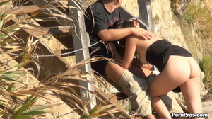 Public sex of bitch and musclehead on the sandy beach between this and that! - XXXonXXX - Pic 3