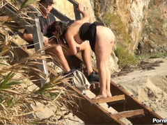 Public sex of bitch and musclehead on the sandy - XXXonXXX - Pic 5