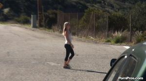 While walking through mountains met a guy who got her boobs nude in public - XXXonXXX - Pic 2