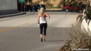 While walking through mountains met a guy who got her boobs nude in public - XXXonXXX - Pic 3