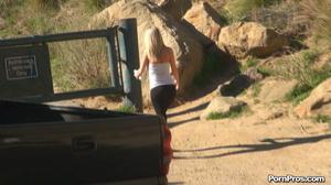 While walking through mountains met a guy who got her boobs nude in public - XXXonXXX - Pic 6
