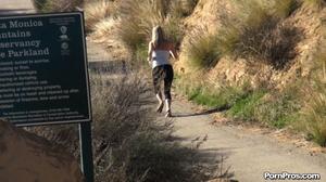 While walking through mountains met a guy who got her boobs nude in public - XXXonXXX - Pic 10