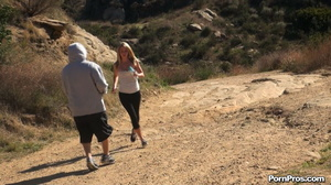 While walking through mountains met a guy who got her boobs nude in public - XXXonXXX - Pic 12