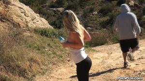 While walking through mountains met a guy who got her boobs nude in public - XXXonXXX - Pic 13
