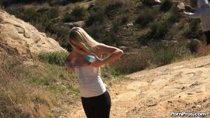 While walking through mountains met a guy who got her boobs nude in public - XXXonXXX - Pic 15